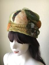 5b13eeab6cb52 Charming Vintage 1960s Styled by Coralie Feather Turban Hat Cloche Women s  22