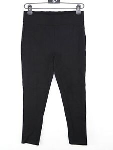 George Cropped Stretch Trousers Black Size 14 Elasticated Waist