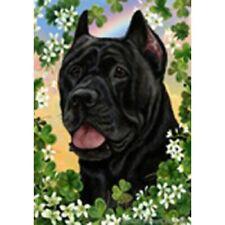Clover Garden Flag - Black Cane Corso 311561