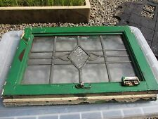Vintage Stained Glass Window Panel Architectural Antique Art Nouveau / Deco Old