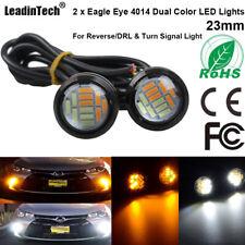 2pcs Eagle Eye LED Bulb 4014 12 SMD Yellow White Dual Color Turn Signal Lights