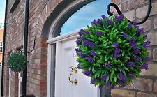 2 Best Artificial 28cm Purple Lush Lavender Topiary Balls Christmas Gift New