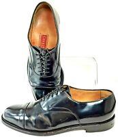 Cole Haan City Caldwell Oxford Mens 9.5D Black Cap Toe Lace Up Dress Shoe C08250