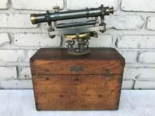 Kinkead Manufacturing Co Boston Ma Surveyors Transit W Lens Hood Amp Wood Box