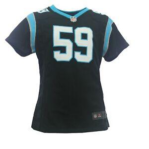 Girls Carolina Panthers Luke Kuechly 59 NFL Nike Kids Youth Size Jersey New