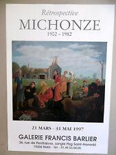 MICHONZE Grégoire Affiche originale 97 Paysans Ferme Judaïsme Ecole de Paris