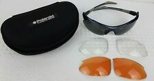 POLAROID SPORTS EXTREME Polarized SUNGLASSES P7001 Y with Case & Extra Lenses