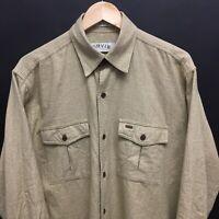 Mens Medium ORVIS Houndstooth Cotton Flannel Shirt -Worn once-   18c