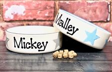 Small dog bowl cat bowl hand painted personalised ceramic rabbit bowl dog feeder
