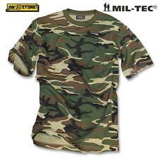 Maglia T-SHIRT MIL-TEC 100% Cotone Maglietta Militare Mimetica Softair Woodland