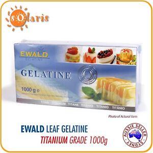 1000g EWALD Leaf Gelatine Titanium Grade 150 Bloom 200 Sheets Made in Germany