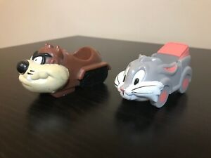 1989 Arbys Fast Food Looney Tunes Dragster Racer Cars Lot, Bugs Bunny, Taz