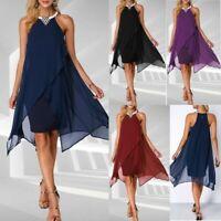 Women Beach Long Canonicals Sexy Fashion Sleeveless Summer Maxi Dress PLUS Size