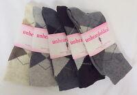 Unheardofdeal Ladies Argyle Dress Crew Cotton Socks W8080 2083