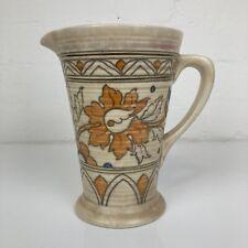 More details for charlotte rhead crown ducal 1930s art deco ankara design lustre jug app. 7