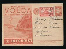 La RUSSIA ILLUSTRATO Cancelleria 1931 Volga BARCA INTOURIST Pubblicità