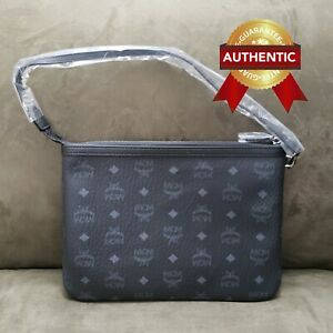 NEW Authentic MCM Pouch Clutch from reversible LIZ shopper set
