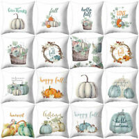 Watercolor Pumpkin Thanksgiving Pillow Case Cushion Cover Sofa Bed Car Decor NEW