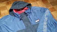 Tommy Hilfiger 3X 4X BIG SPELL OUT COLORBLOCK BOX Windbreaker Packable Jacket