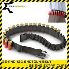 50PC Shotgun Ammo Belt 12G Clip on QuickLoad Cartridge Holder Clay Shell Carrier