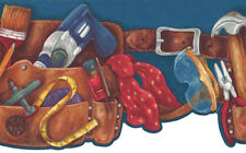 Little Boy's Tool Belt Wallpaper Border
