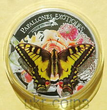 2013 Andorra Butterfly 3D 1 Oz Silver Proof Colored Coin Wildlife WWF Fauna