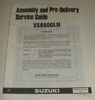 1992 SUZUKI VS800GL INTRUDER VS 800 WIRING DIAGRAM & PRE-DELIVERY SERVICE GUIDE