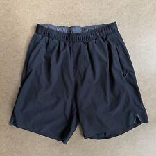 "Rhone Mako Athletic Running Shorts 6"" Lined Black S"