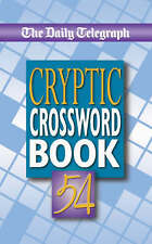 The Daily Telegraph Cryptic Crossword Book vol 54 BRAND NEW BOOK (Paperback 2005