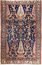"Genuine hand knotted authentic Antique area rug. 3'1""x 4'8"""
