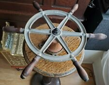 "Vintage Steel Wilcox Crittenden Galvanized 16.5"" Ship Wheel Nautical Decor"