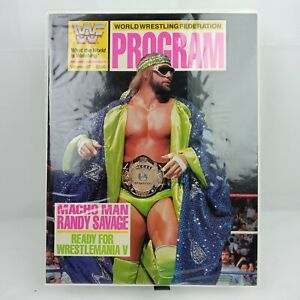 WWF Macho Man Randy Savage World Wrestling Federation Program 167 Wrestlemania V