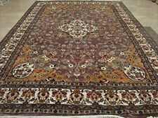 Medallion Floral Rectangle Area Rug Hand Knotted Wool Silk Carpet (9 x 6)'