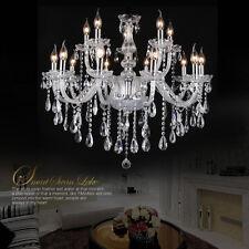 Kristall Kronleuchter 15 Leuchten Pendelleuchte Lüster Deckenlampe Modern Licht