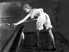 Klondike Old West  Brothel Girls Soiled Doves playing Billiards Pool 1890s photo