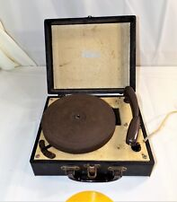 Vintage Supreme Small Suitcase Electric Phonograph Record Player, Parts - Repair