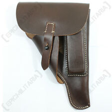 German Army WALTHER P38 P-38 Pistol HOLSTER - Soft Shell Brown Leather WW2 Repro