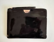 Mimco Echo Black rose gold LARGE SIZE LEATHER POUCH