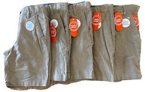 Wonder Nation Boys School Uniform Shorts Lot of Five Size 7