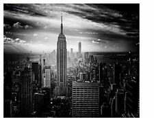 NEW YORK CITY EMPIRE STATE BUILDING BLACK AND WHITE  COMPUTER MOUSE PAD  9 x 7