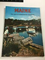 Vintage Maine: The Land Of Remembered Vacations, Travel Booklet 1960s