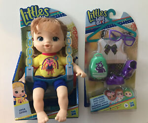 """Lot of 2: Littles by Baby Alive, Littles Squad, Little Astrid 9"""" Doll and Outfit"""