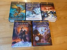The Heroes of Olympus 5 Hardcover books Rick Riordan 1st Edition Like New 12345