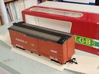 LGB 4067 D&RG Rio Grande Box Car G Scale Model Railroad Train THE BIG TRAIN