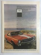 1969 AMC AMX & Remington Electric Shaver Vintage Ad