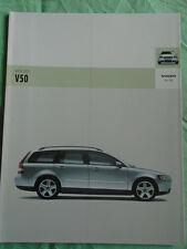 Volvo V50 brochure 2005 German text