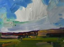 "JOSE TRUJILLO Small 6X8"" Contemporary OIL PAINTING Canvas Board Landscape Clouds"