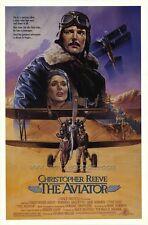 AVIATOR Movie POSTER 27x40 Christopher Reeve Rosanna Arquette Jack Warden Tyne
