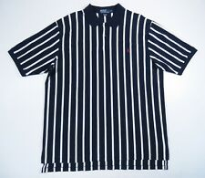 Vintage 90S Polo Ralph Lauren Blue Striped USA Made Red Pony Polo Shirt 2XLT