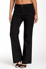 NWT Not Your Daughter's Jeans NYDJ Gillian in Black Stretch Trouser Jeans 2P